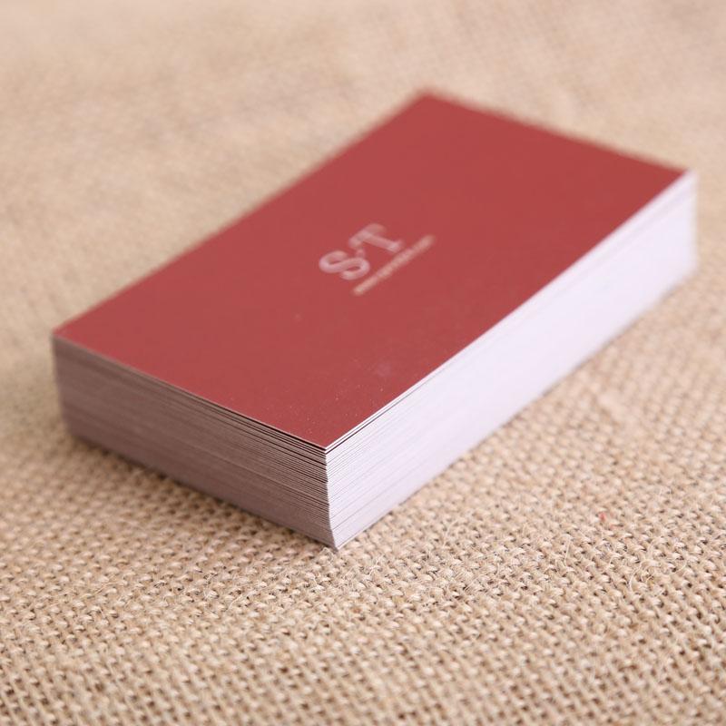 铜版纸名片设计 自己在线设计名片上印刷侠网